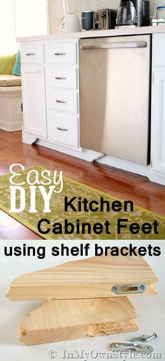 Decorative Accents: Kitchen Base Cabinets With Feet