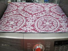 Washer and Dryer Covers Washer And Dryer Covers, He Washer And Dryer, Front Load Washer, Laundry Rooms, Fabric Covered, Bathrooms, Sweet Home, Room Ideas, New Homes