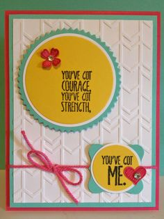 Catherine Loves Stamps: Something to Say, Itty Bitty Accents, Starburst framelits, Arrows embossing folder
