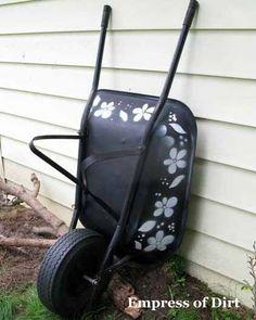 Stencil A Wheelbarrow. Because You Can