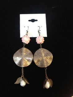 Unique Handmade Pink and Bronze Earrings by FadedBead