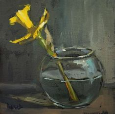 Last Daff - Original Fine Art for Sale - � by Cathleen Rehfeld