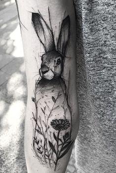 Kamil Mokot bunny tattoo