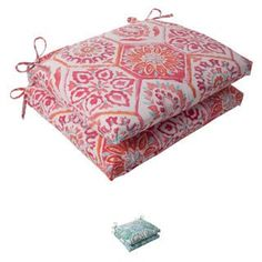 Shop for Pillow Perfect 'Summer Breeze' Outdoor Squared Seat Cushions (Set of 2). Get free delivery at Overstock.com - Your Online Garden
