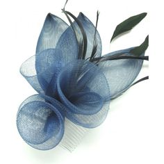 Pretty Net Flowers and Petals Fascinator on comb ,Available in 3 colours Red Grey , Navy Blue Ideal Wedding Races Ladies day Ascot Or any Special Occasion how to make sinamay flowers Facinator Hats, Sinamay Hats, Millinery Hats, Fascinators, Headpieces, Fascinator Headband, Fascinator Hairstyles, Handmade Flowers, Diy Flowers