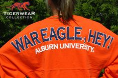 Stay comfy all day or all night in Tigerwear Collections Classic Spirit Football Jersey® with a cozy over-sized fit.Made with 100% High Quality Cotton – Pre Shrunk and Ready To Wear! Oh and we had throw in some Auburn Pride! War Eagle, Hey!