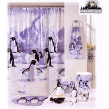 Penguin Party Shower Curtain And Bath Accessories By the... review ... - penguin shower curtain photos pics