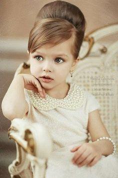 Vintage Flower Girl in Pearls. So precious!