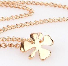 Lot of 6 Lucky Four Leaf Clover 14k Gold Plated Charm Necklace Good Luck Pendant #Handmade #Pendant