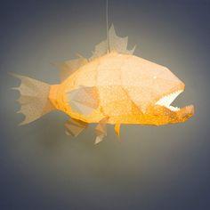 Giant Lapu-Lapu Origami Lamp