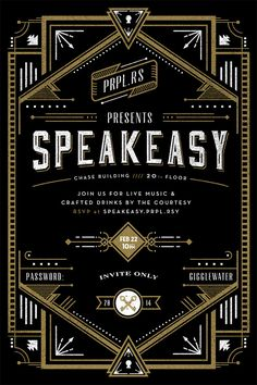 BEAUTIFUL & FUN DESIGN | Speakeasy Invite by Frank Rodriguez
