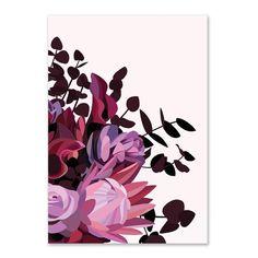Brenda Dark Floral limited edition giclee art print by Australian artist Lamai A. Art Floral, Art Mural Floral, Australian Native Flowers, Australian Artists, Flora Und Fauna, Guache, Contemporary Wall Art, Botanical Art, Ink Drawings