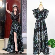 Feeling lavish and extravagant? Be like Jang Man Wol, the CEO of Hotel Del Luna, who loves fancy things just like this dress. Get this latest item inspired from newest Korean Drama Hotel Del Luna to complete your posh look! Luna Fashion, Kpop Fashion, Girl Fashion, Fashion Dresses, Fashion Design, Korean Fashion Trends, Asian Fashion, Kpop Outfits, Korean Outfits