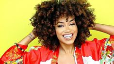 My BIG Voluminous Curly Natural Hair Tutorial | Bri Hall - YouTube