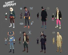 Sunset Overdrive Concept Art and Illustration by Vasili Zorin Sunset Overdrive, Character Costumes, Comic Character, Character Concept, Game Character, Concept Art World, Game Concept Art, Character Illustration, Illustration Art