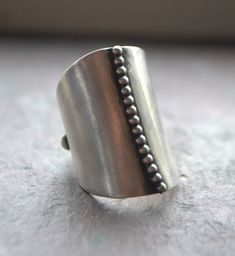JMcCormickDesigns | Beaded Sterling Silver Bold Ring