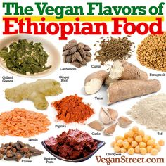 The Vegan Flavors of Ethiopian Food - Healthy Dog Food Whole Food Recipes, Dog Food Recipes, Vegetarian Recipes, Cooking Recipes, Healthy Recipes, Vegan Foods, Vegan Dishes, Ethopian Food, Ethiopian Cuisine