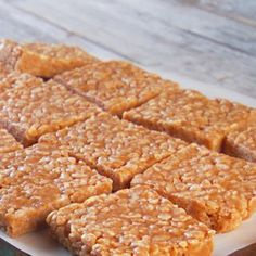 No-Bake Peanut Butter Rice Krispies Cookies Recipe Desserts with light corn syrup, granulated sugar, light brown sugar, peanut butter, pure vanilla extract, Rice Krispies Cereal