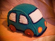 AnnaSHandMD stuffed toy crochet car by AnnaSHandMD on Etsy,