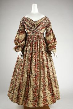 Day dress, ca. 1837; MMA C.I.41.128.1