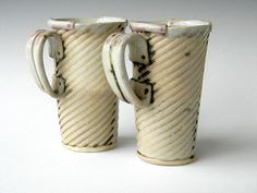 Two hand built mugs by lbcooper