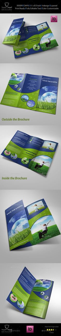 Environment ECO Tri-Fold Brochure Template Vol.2 - Brochures Print Templates