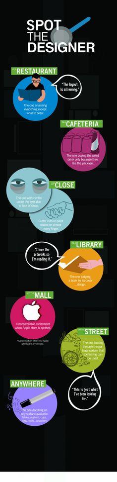 Spot the Designer #Infographic