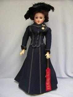 eBay Image Hosting at www.auctiva.com Victorian Dolls, Antique Dolls, Vintage Dolls, German Fashion, French Fashion, Vintage Fashion, High Fashion, Dress Card, Doll Dress Patterns