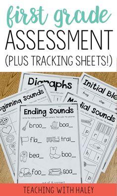 I created this product to use at the beginning of the year to see where my students are. It is a collection of 27 1-page assessments to gather information and drive your instruction.   first grade assessment checklist, reading assessment first grade, first grade assessment test, 1st grade assessment, first grade assessment, assessment tools, beginning of the year assessment, phonics assessment first grade, sight words assessment