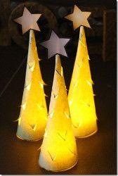 Illuminated Christmas Trees | AllFreeChristmasCrafts.com