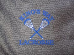 King's Way Lacrosse embroidery