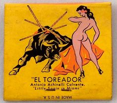 El Toreador Nightclub #frontstriker #matchbook - Miami, FL - To order your Business' own Branded #matchbooks or #matchboxes GoTo: www.GetMatches.com or CALL 800.605.7331 TODAY!