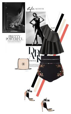 """""""Black is always a good idea..."""" by theitalianglam ❤ liked on Polyvore featuring Solace, Zimmermann, Chanel, contestentry, styleinsider and PVStyleInsiderContest"""