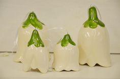 S blížiacimi sa  sviatkami sa nechajte inšpirovať sklenenými veľkonočnými vajíčkami s háčkovanou čipkou,ktoré krásne vyniknú napríklad na obyčajných brezových konárikoch a skvele ich doplnia keramické kvetinky - zvončeky v rôznych farbách.