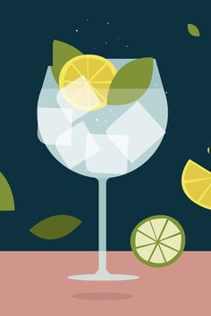 10 Colourful illustrated icons of some of the most famous cocktails in different types of glasses. Cocktail Illustration, Illustration Art, Vector Graphics, Vector Art, Cocktails Vector, Cocktail Book, Wow Art, Gin And Tonic, Food Illustrations