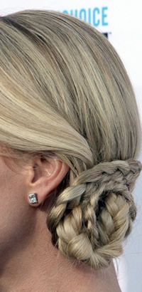 Charlize Theron's braided updo haristyle