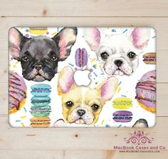 French Bulldog MacBook Case. MacBook Case. Top (printed) and Bottom (clear) Hard…