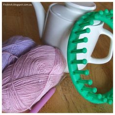 While most people seem to have delicate little tea pots, mine seems huge in comparison. I think it perhaps says a lot about my penchant . Circular Loom, Knifty Knitter, Loom Knitting Projects, Tea Cozy, Cosy, Knit Crochet, Weaving, Delicate, Crafty