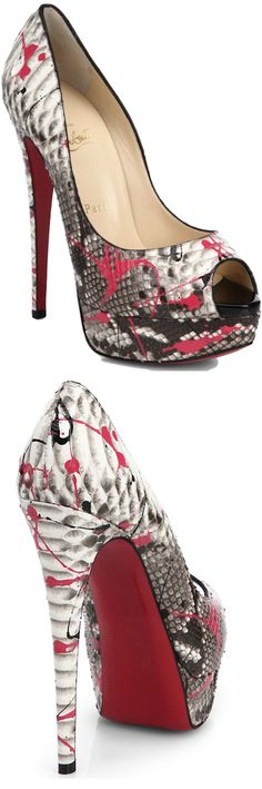 CHRISTIAN LOUBOUTIN FOR THE HOLIDAYS / Christian Louboutin Lady Graffiti Platform Pump via lookandlovewithloloblogspot