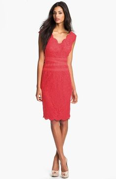 89b2ac49dd38 Free shipping and returns on Tadashi Shoji Embroidered Lace Sheath Dress  (Regular  amp  Petite