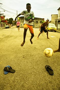 The Traditional way to play football by Stylianos Papardelas  Rio de Janeiro, Brazil, South America Triptease