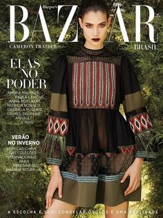 Cameron Traiber stars in Harper's Bazaar Brazil Magazine March 2016 Cover
