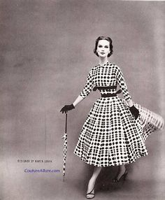 Couture Allure Vintage Fashion: Harvey Berin Dress - 1956