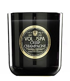 Crisp Champagne candle by Voluspa $28. One of my favorite scents