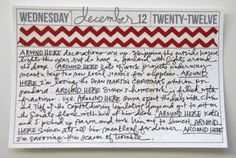 Ali Edwards December Daily - Around Here journal prompt