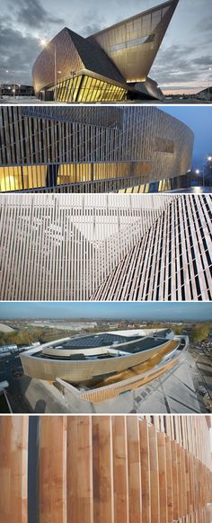 MICX - Mons International Congress eXperience - Designed by Daniel Libeskind - Wooden coating of Robinia natural wood   Jove