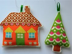 DiY gingerbread house christmas hanging ornament.