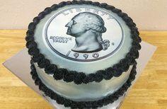 25 years old birthday cake.  Quarter of a century cake