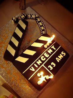 movie cake clap...Dad's Birthday idea
