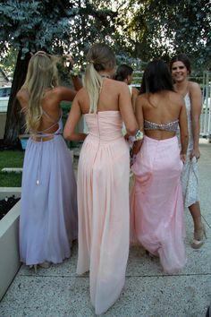 long pastel dresses...love